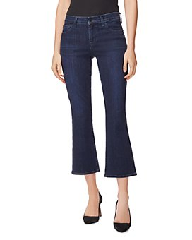 J Brand - Selena Mid Rise Cropped Bootcut Jeans in Reality