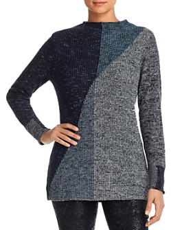 NIC and ZOE - Color-Block Tunic Sweater