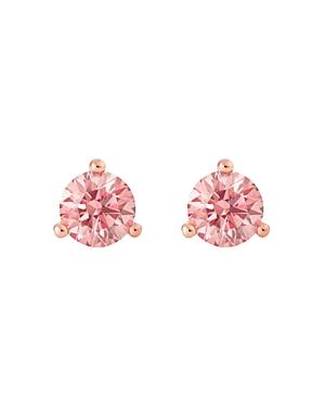 Solitaire Lab-Grown Diamond Stud Earrings