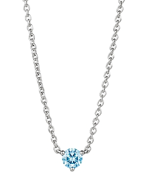 Solitaire Lab-Grown Diamond Pendant Necklace in Sterling Silver