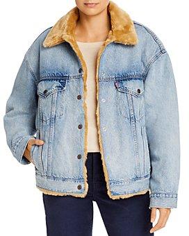 Levi's - Reversible Faux Fur & Denim Dad Trucker Jacket