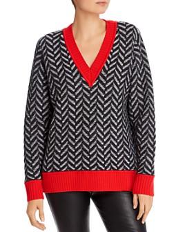 rag & bone - Biata Herringbone Wool Sweater