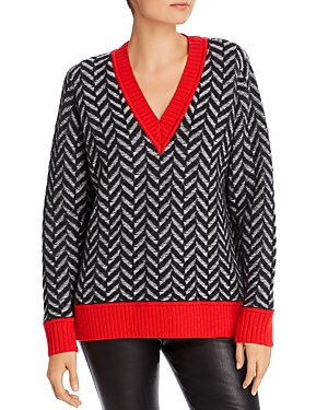 Rag & Bone Tops RAG & BONE BIATA HERRINGBONE WOOL SWEATER