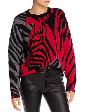 Rag & Bone Sweaters RAG & BONE CASHMERE COLOR-BLOCKED ZEBRA SWEATER