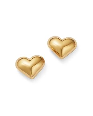 Bloomingdale's Puffed Heart Stud Earrings in 14K Yellow Gold - 100% Exclusive