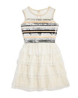 BCBGirls - Girls' Striped Sequin Dress - Big Kid