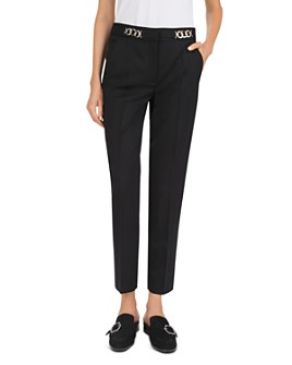 The Kooples - Cropped Chain-Detail Wool Pants
