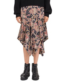 The Kooples - Tanger Printed Silk Midi Skirt