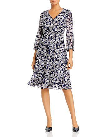 KARL LAGERFELD PARIS - Floral-Print Chiffon Dress