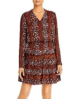 Scotch & Soda - Leopard-Print Pleated-Skirt Dress