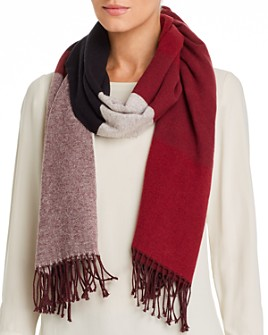 Eileen Fisher - Color-Block Fringe Scarf