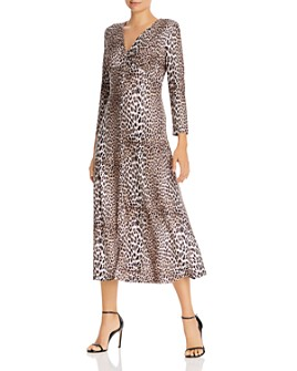 Notes du Nord - Nicci Leopard-Print Easy Pullover Dress