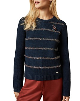 Ted Baker - Color by Numbers Tintor Tinsel Striped Sweater