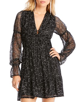 LINI - Gabriella Balloon-Sleeve Embroidered Dress - 100% Exclusive