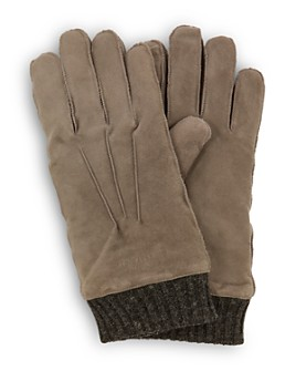 Ted Baker - Ladd Knit-Cuff Suede Gloves