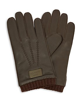 Ted Baker - Blokey Knit-Cuff Leather Gloves