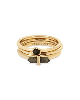 ALLSAINTS - Stone Delicate Stacking Rings, Set of 3