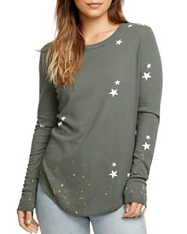 CHASER - Star Waffle-Knit Tee