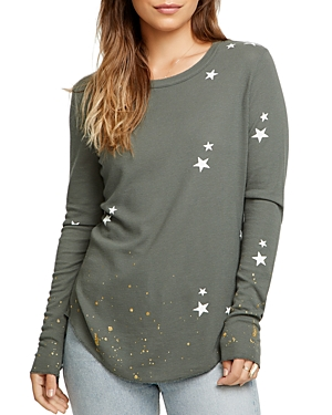 Chaser Knits STAR WAFFLE-KNIT TEE