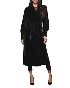 Good American - The Velvet Belted Long Kimono