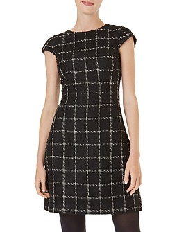 HOBBS LONDON - Ashley Windowpane Tweed Dress