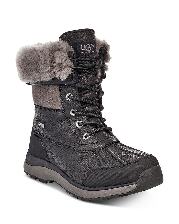 Ugg® Women's Adirondack Round Toe Leather & Suede Waterproof Booties