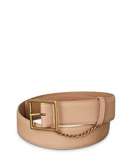 BCBGENERATION - Chain-Trim Faux Leather Belt