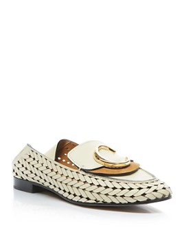 Chloé - Women's C Woven Leather Flats