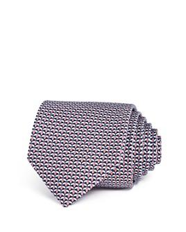 Salvatore Ferragamo - Navy/Coral Silk Classic Tie