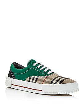 Burberry - Men's Skate Color-Block Vintage Check Low-Top Sneakers