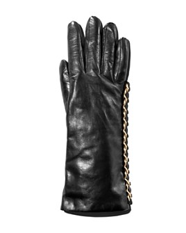 Portolano - Chain-Trim Leather Gloves