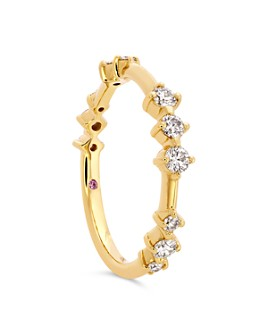 Hayley Paige for Hearts on Fire - 18K Yellow Gold Love Code Band with Diamonds