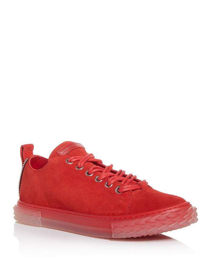 Giuseppe Zanotti - Men's Blabber Mono Suede Low-Top Sneakers