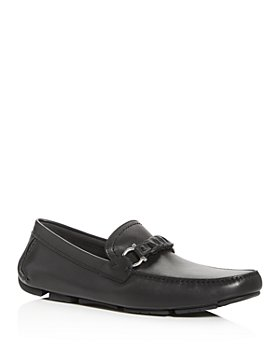 Salvatore Ferragamo - Men's Stuart Braided Leather Moc-Toe Drivers - Regular