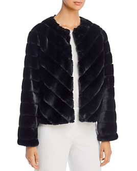Bagatelle - Chevron Faux-Fur Jacket