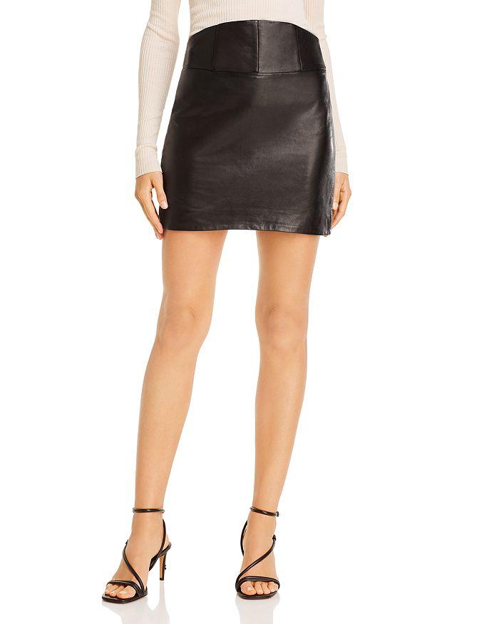 Michelle Mason - Leather Mini Skirt