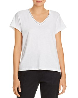 LNA - Ayla Distressed-Trim Tee