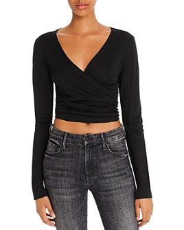 Rosie G - Cropped Wrap Top