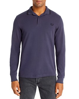 Fred Perry - Twin Tipped Long Sleeve Slim Fit Polo Shirt