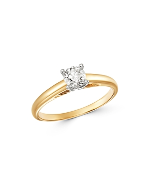 Bloomingdale's Solitaire Diamond Ring in 14K White & Yellow Gold, 0.50 ct. t.w. - 100% Exclusive