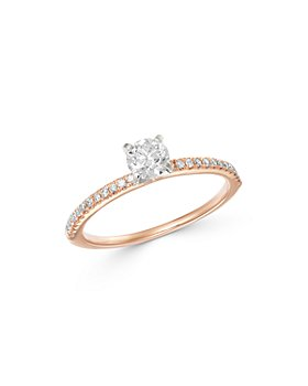 Bloomingdale's - Solitaire Diamond Ring in 14K White & Rose Gold, 0.55 ct. t.w. - 100% Exclusive