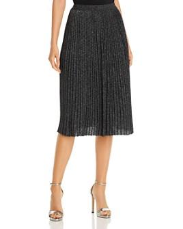 T Tahari - Metallic Pleated Midi Skirt