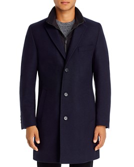 HUGO - Milogan Twill Topcoat With Zip-Out Bib