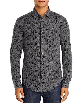 BOSS - Ronni Leaf Print Slim Fit Shirt