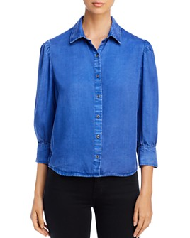 Billy T - Chambray Puff-Sleeve Top