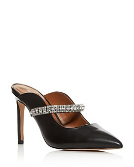 KURT GEIGER LONDON - Women's Duke Embellished High-Heel Mules