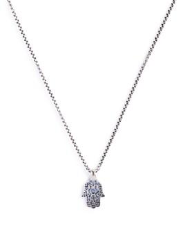 "Degs & Sal - Sterling Silver Hamsa Necklace, 24"""