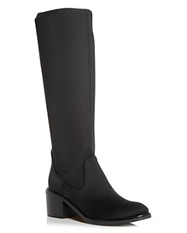 Donald Pliner - Women's Deno Crepe Elastic Block-Heel Boots