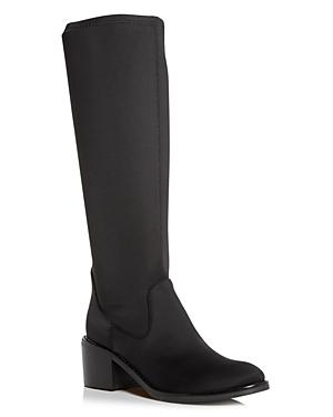 Donald Pliner Women\\\'s Deno Crepe Elastic Block-Heel Boots