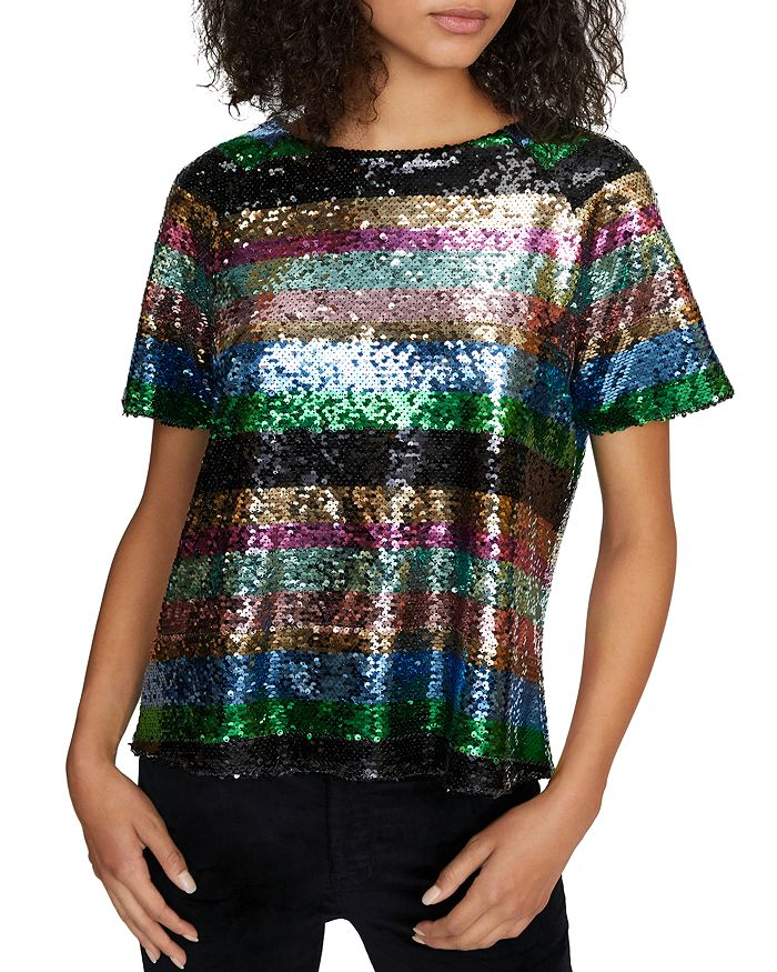 Sanctuary - Saturday Night Sequin Stripe Top